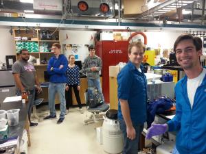 Lab members in the EPR/Biochem lab