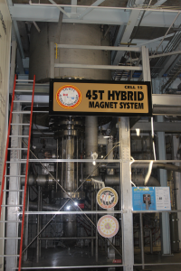 NHMFL's Hybrid magnet with the highest cw magnetic field on earth at 45 Tesla.
