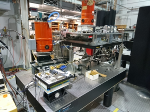 The high-field multi-frequency EPR instrument primarily used by the group at the NHMFL.